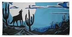 Beach Towel featuring the painting Coyote by Jeffrey Koss