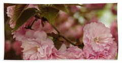 Beach Towel featuring the photograph Crab Apple Blossoms by James C Thomas