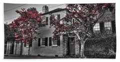 Crape Myrtles In Historic Downtown Charleston 1 Beach Towel