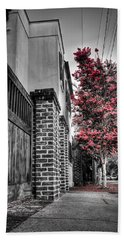 Crape Myrtles In Historic Downtown Charleston 2 Beach Towel