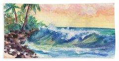 Crashing Waves At Sunrise Beach Sheet