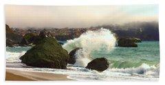 Crashing Waves Beach Towel