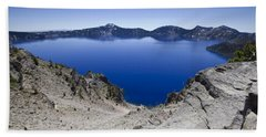 Beach Towel featuring the photograph Crater Lake by David Millenheft