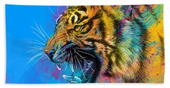 Crazy Tiger Beach Towel