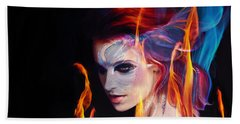 Creation Fire And Flow Beach Towel