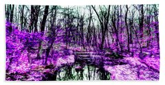 Creek By Purple Beach Towel