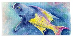 Creole Wrasse Beach Towel