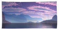Crescent Bay Alien Landscape Beach Sheet