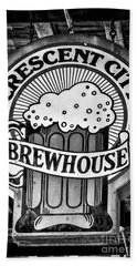 Crescent City Brewhouse - Bw Beach Towel