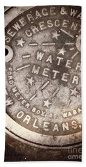 Crescent City Water Meter Beach Towel