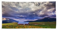 Crested Butte Morning Storm Beach Towel