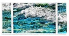 Cresting Waves Beach Towel