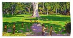 Cricket Match St George Granada Beach Towel