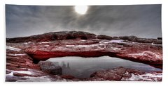 Beach Towel featuring the photograph Crimson Arch by David Andersen