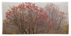 Crimson Fog Beach Towel