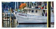 Crimson Tide In Harbor Beach Towel