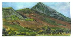 Croagh Saint Patricks Mountain In Ireland  Beach Towel