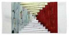Crooked Staircase Beach Towel by Ron Davidson