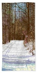 Beach Towel featuring the photograph Cross Country Trail by Nina Silver