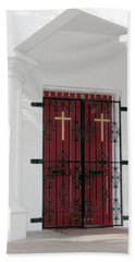 Key West Church Doors Beach Sheet by Bob Slitzan