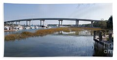 Cross Island Bridge Hilton Head Beach Towel