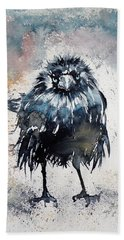 Crow After Rain Beach Towel