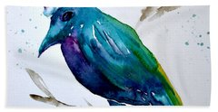 Beach Sheet featuring the painting Crow Ho Ho by Beverley Harper Tinsley