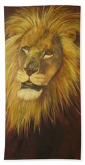 Crown Of Courage,lion Beach Towel