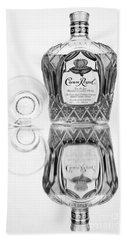 Crown Royal Black And White Beach Towel