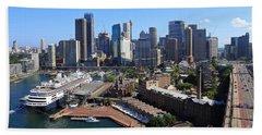 Cruiser Ship In Sydney Beach Towel