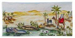Cruising Along The Nile Beach Towel