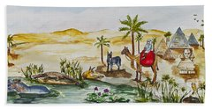 Cruising Along The Nile Beach Towel