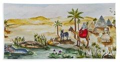 Cruising Along The Nile Beach Sheet