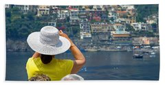 Cruising The Amalfi Coast Beach Towel by Keith Armstrong