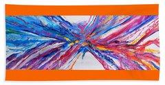 Crux Beach Towel by Expressionistart studio Priscilla Batzell