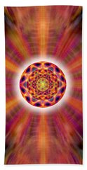 Beach Towel featuring the drawing Crystal Ball Of Light by Derek Gedney