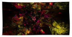 Beach Sheet featuring the digital art Crystal Inspiration #1 by Olga Hamilton