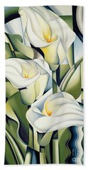 Cubist Lilies Beach Towel by Catherine Abel