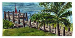 Cudjoe Dock Beach Towel
