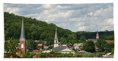 Cumberland Steeples Beach Towel by Jeannette Hunt