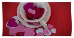 Cup Full Of Love Beach Sheet