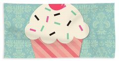 Cupcake 2 Beach Towel