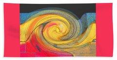 Beach Towel featuring the photograph Curb Swirl by Brooks Garten Hauschild