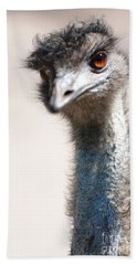 Curious Emu Beach Towel