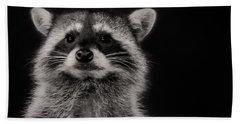 Curious Raccoon Beach Towel