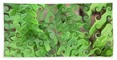 Curly Fronds Beach Towel