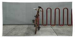 Curved Rack In Red - Urban Parking Stalls Beach Sheet