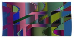 Curves And Trapezoids 3 Beach Towel