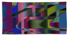 Curves And Trapezoids 3 Beach Sheet by Judi Suni Hall
