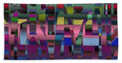 Curves And Trapezoids  Beach Towel